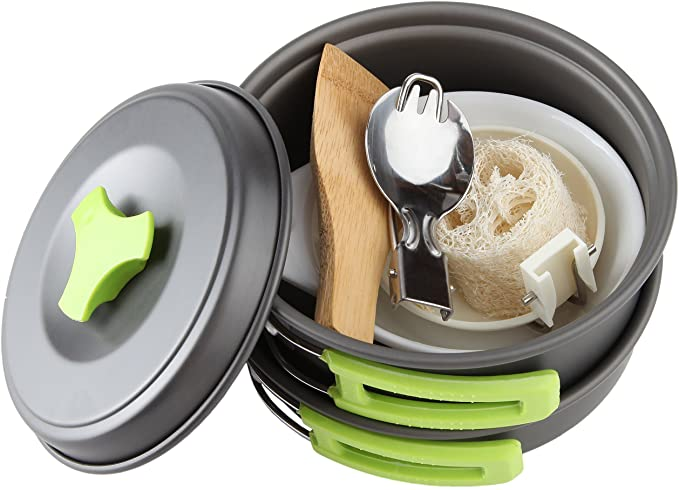 MalloMe Camping Cookware Mess Kit Review