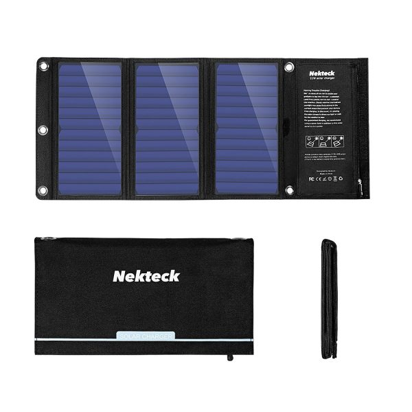 Nekteck 21W Solar Charger Folds Down Easy