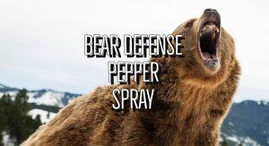 Bear Defense Pepper Spray